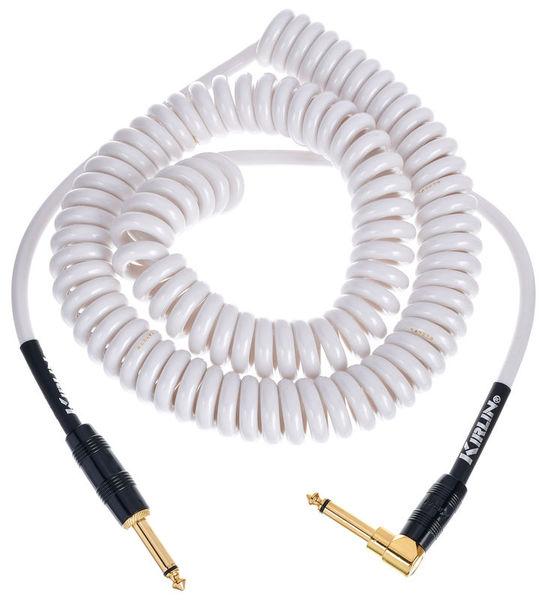 Kirlin Premium Coil Cable 6m White