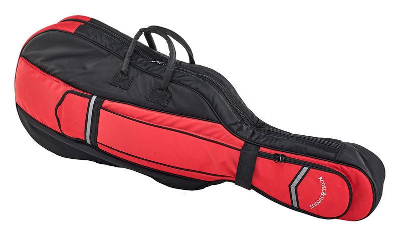 Roth & Junius CSB-01 1/4 BK/RD Cello Bag