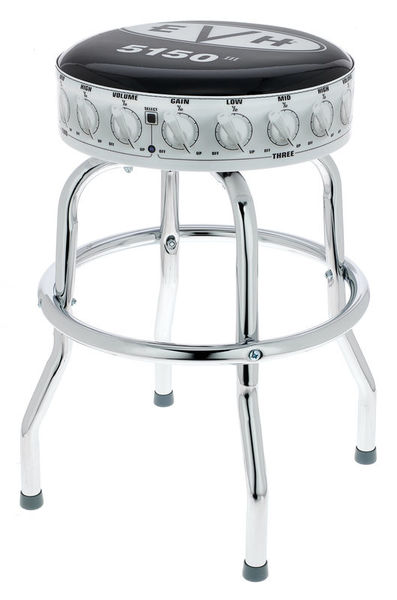 "Evh Bar Stool Logo 24"" Bl/WH"