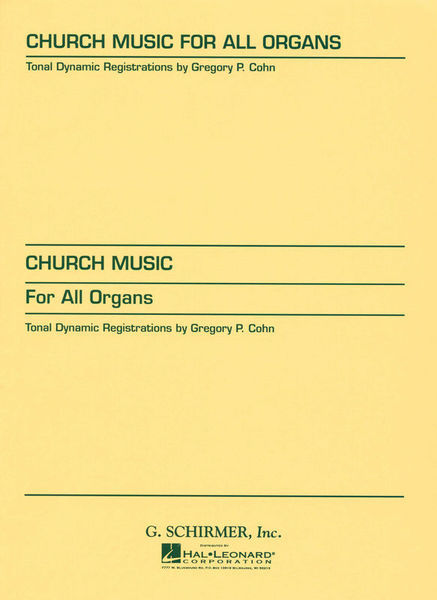 G. Schirmer Church Music For All Organs