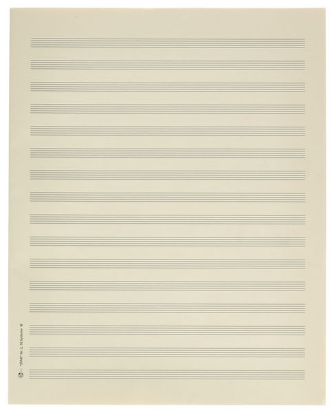 Star Sheet Music Paper Quart 8 mm