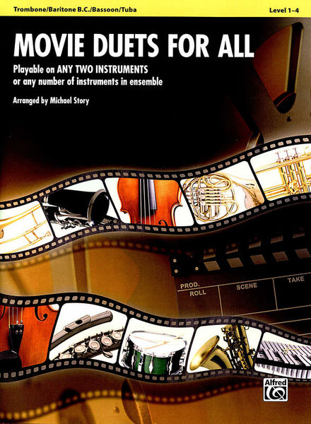 Alfred Music Publishing Movie Duets For All Trombone
