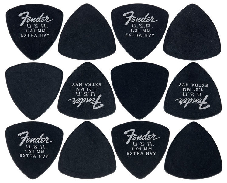 Fender 346 Dura-Tone Picks BLK