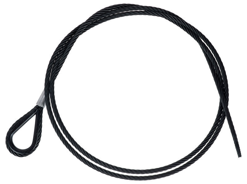 Stairville Steelwire Safety 200cm/6mm Bk