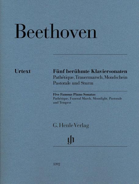 Henle Verlag Beethoven Fünf Klaviersonaten