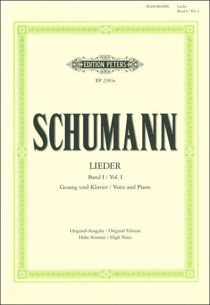 Edition Peters Schumann Lieder High Voice
