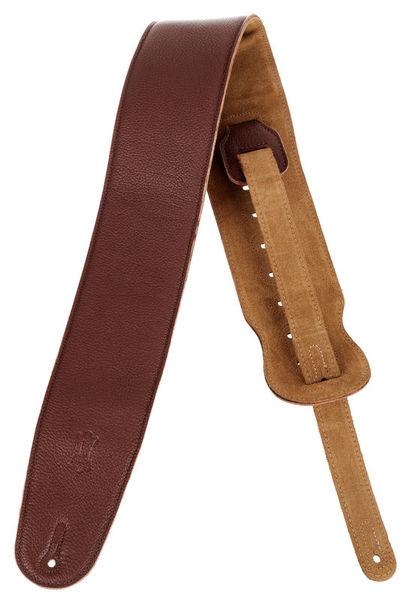 Levys Garment Leather Bass Strap BRN