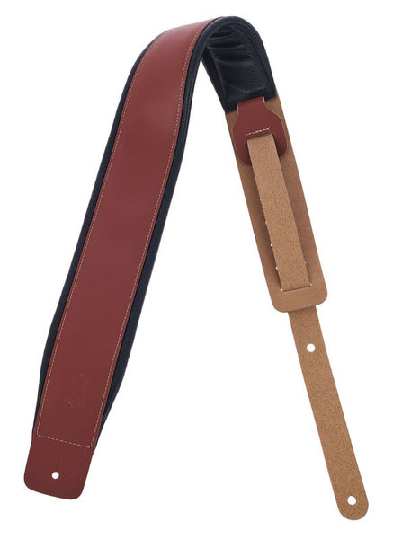 """Levys Padded Leather Strap 3"""" WAL"""