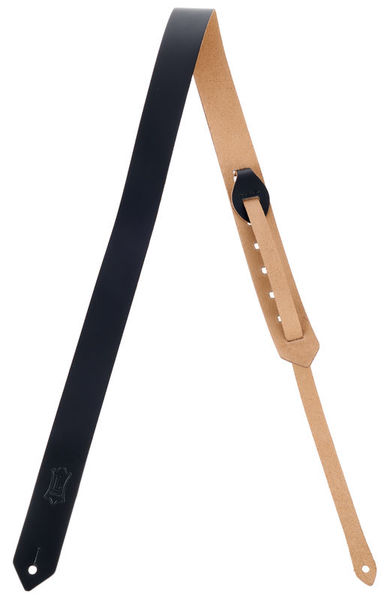 "Levys Leather Strap 1,5"" BK"