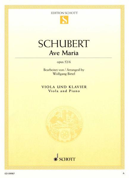 Schott Schubert Ave Maria Viola