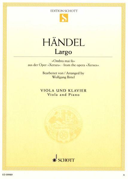 Schott Händel Largo Viola