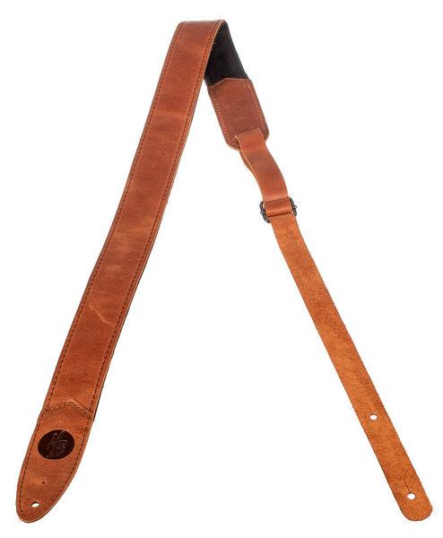 Harley Benton Longbody Leather Strap Natural