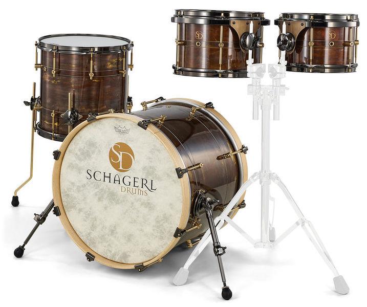 Schagerl Drums Dark Vintage Studio Kit
