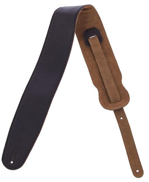 Levys Garment Leather Bass Strap DBR
