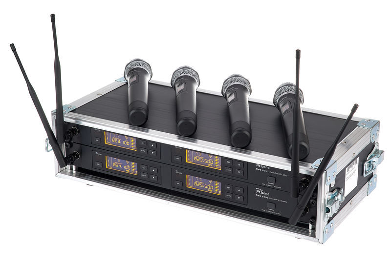 the t.bone free solo HT 823 MHz/4 CH Rack