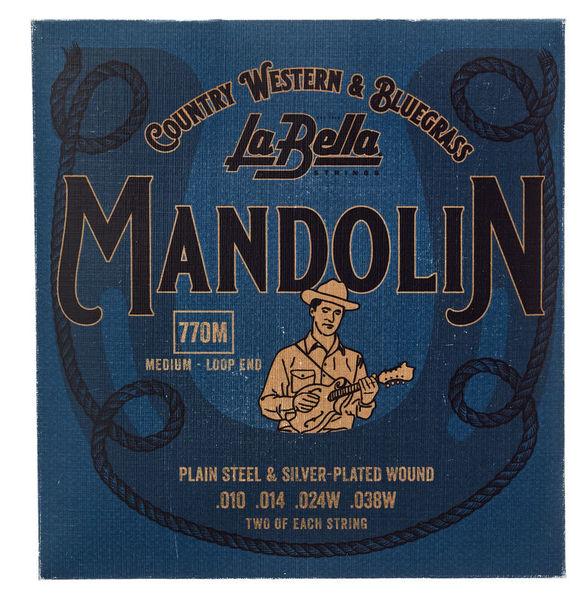 La Bella 770M Mandolin Silv.Pl. Medium