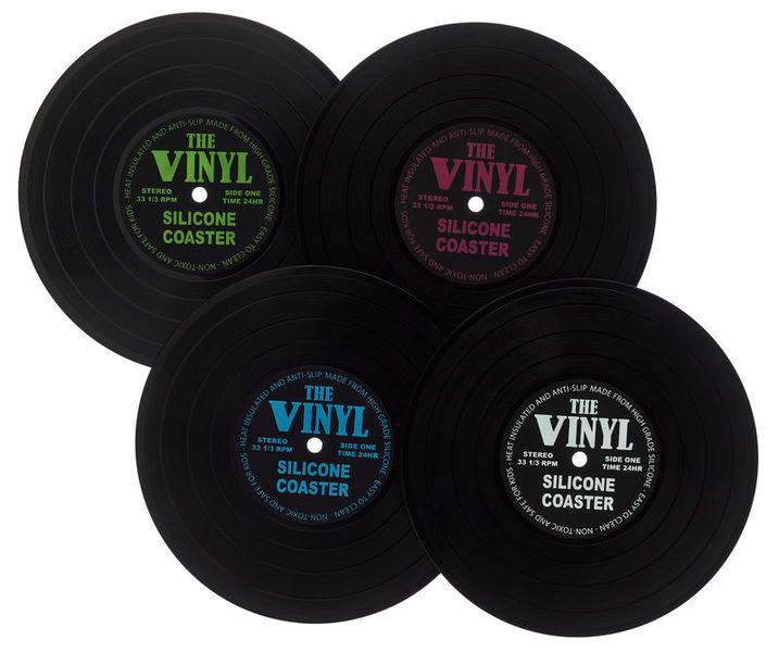 MusikBoutique Record Coasters Set 4 pcs