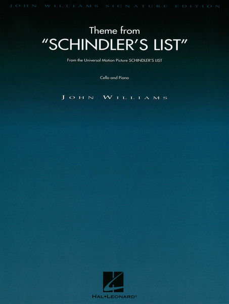 Hal Leonard Schindler's List Theme Cello