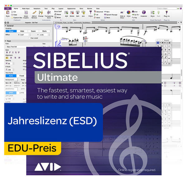 Avid Sibelius Ultimate EDU 1Y Subs.