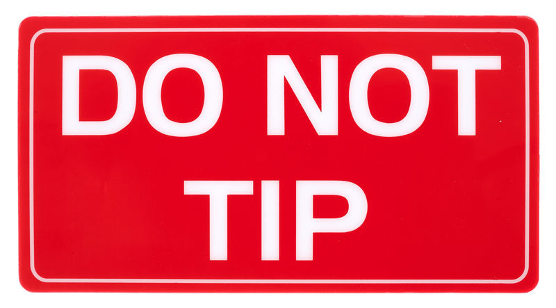 Stageworx Tourlabel Do Not Tip
