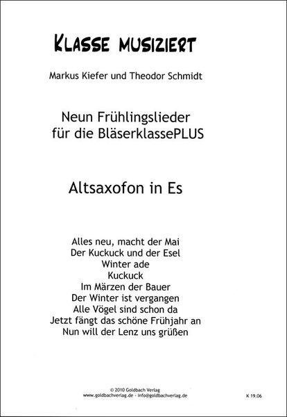 Goldbach Verlag Frühlingslieder Alto Saxophone