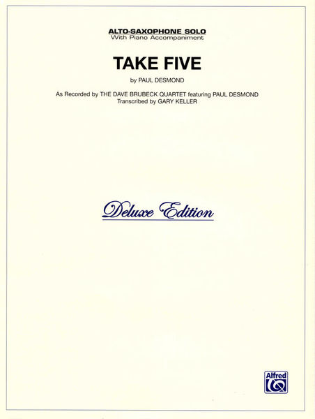 Alfred Music Publishing Take Five Alto Sax