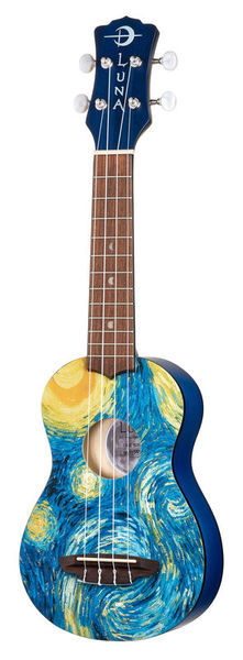 Luna Guitars Uke Starry Night Soprano