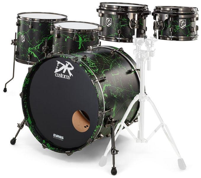 DR Customs Rock Set Black Green Splatter
