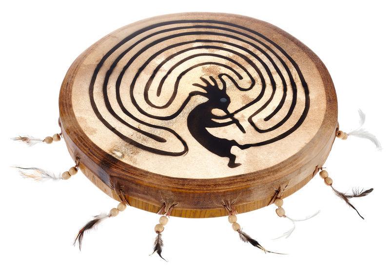 Terre Shaman Drum 35cm Kokopelli