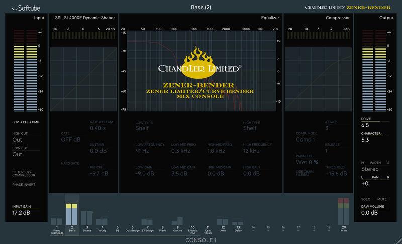 Softube Zener-Bender for Console 1