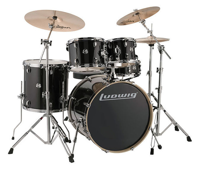 "Evolution Drum Kit 22"" Black Ludwig"