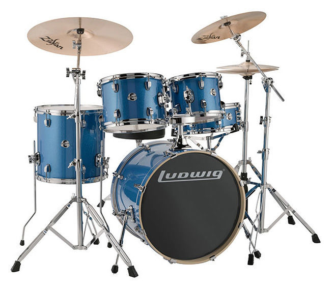 "Ludwig Evolution Drum Kit 20"" Blue"