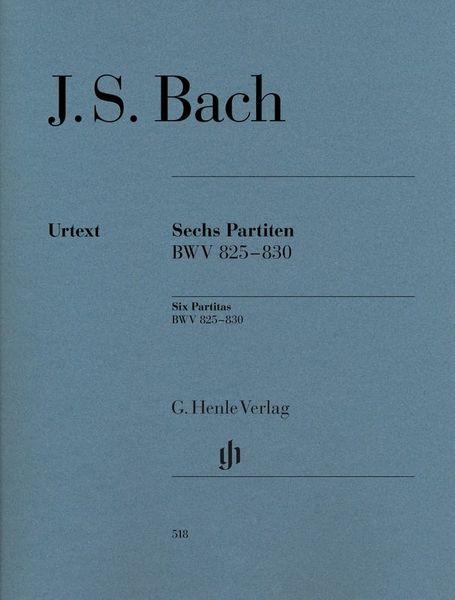 Henle Verlag Bach Sechs Partiten BWV825-830