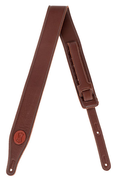 "Levys Soft Leather Strap 2,5"" BRN"