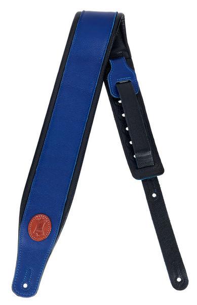 """Levys Pad. Garm. Leather Strap 3""""BLU"""