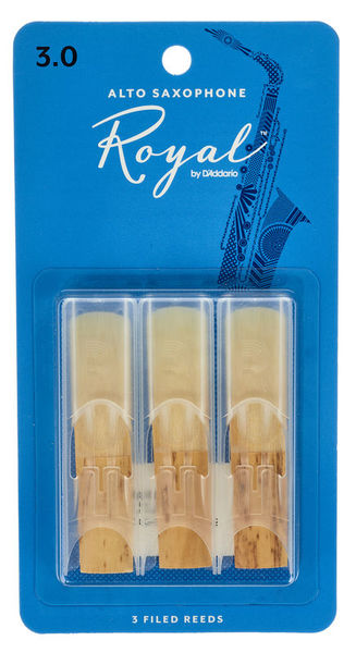DAddario Woodwinds Royal Alto Sax 3.0 - 3-Pack