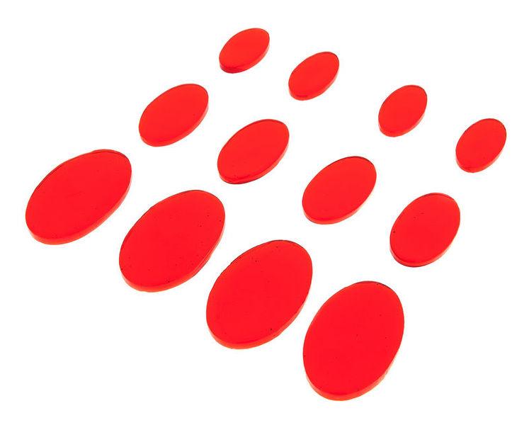 SkyGel Gel Damper Pads red 12 Pack