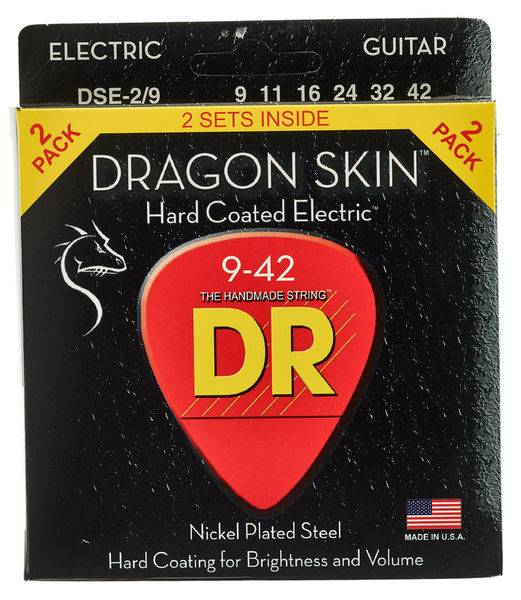 DR Strings Dragon Skin DSE-9-42 2-Pack