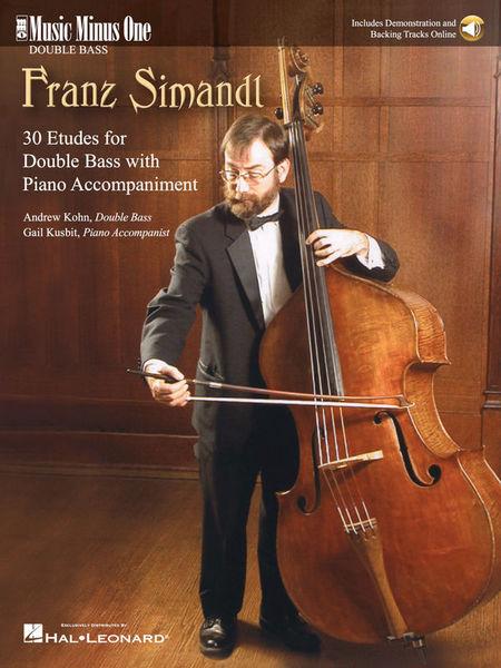 Music Minus One Simandl 30 Etudes Double Bass