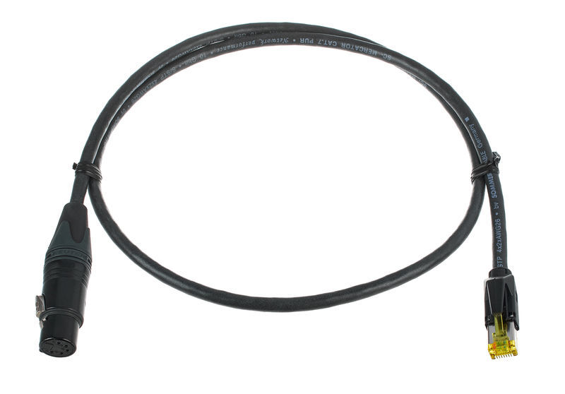 Sommer Cable CAT7 XLRf Adapter 1m black