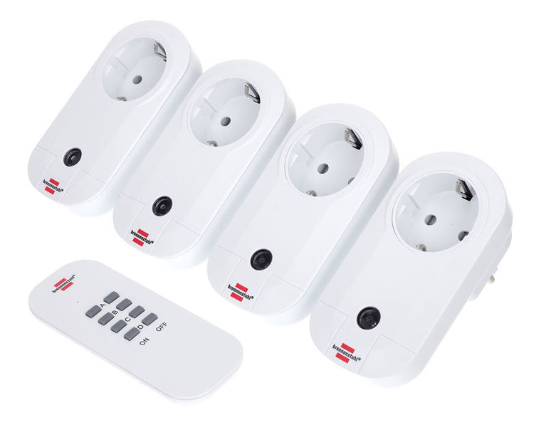 Brennenstuhl RC Switch Sockets Set of 4