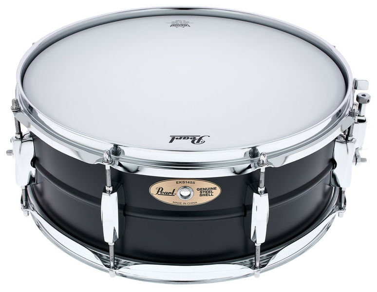 "Pearl 14""x5,5"" Black Steel Snare"