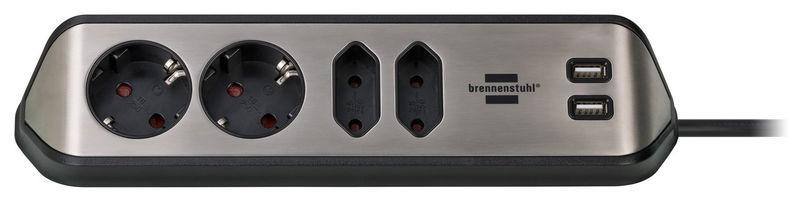 Brennenstuhl Estilo Socket Strip 4Way BK