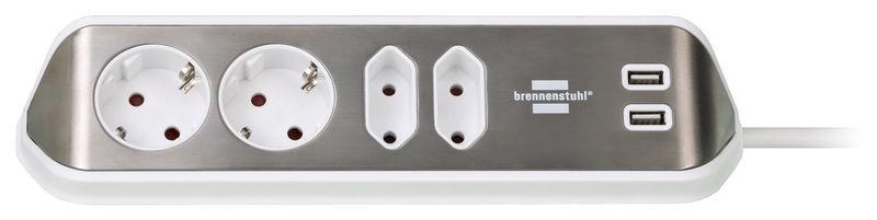 Brennenstuhl Estilo Socket Strip 4Way WH