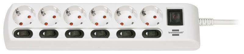 Brennenstuhl 6-Way Socket Device Switchs WH