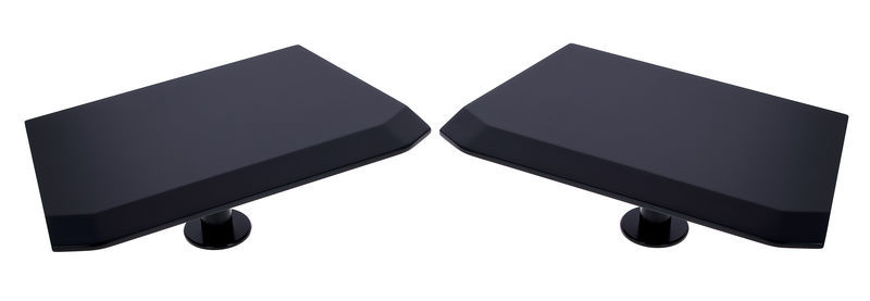 Studio Desk Orbit Speaker Shelves Black
