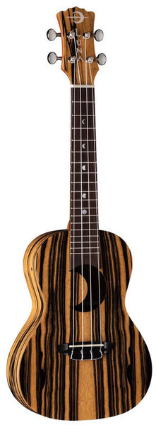 Luna Guitars Uke Crescent BK/WHT Ebony C