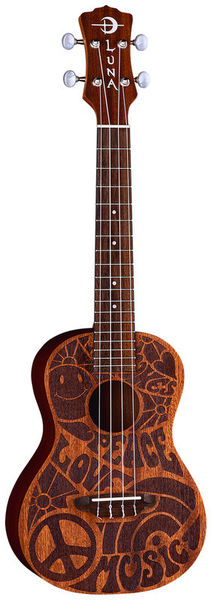 Luna Guitars Uke Love Music Peace Concert