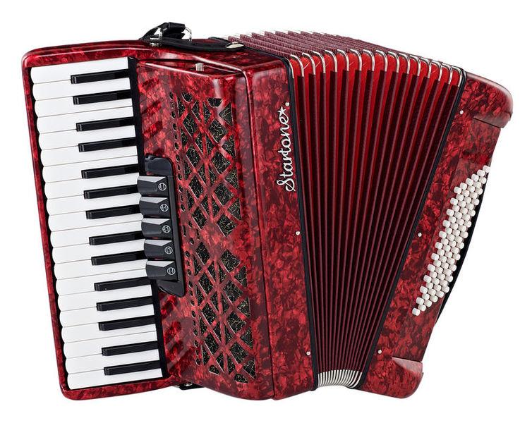 Startone Piano Accordion 72 Red MKII
