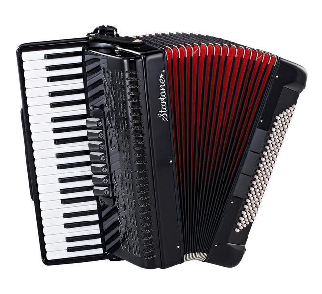 Startone Piano Accordion 120 Black MKII